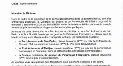 Le conseil d'administration du PASP félicité pour son efficacité, par le Ministre du Budget feature image