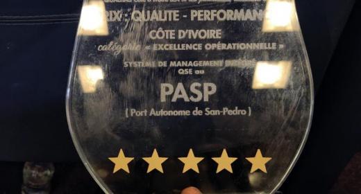 Port Autonome de San Pedro, Lauréat du prix Qualitas 2019 - dans la catégorie EFFICACITE OPERATIONNELLE du Système de Management Intégré QSE » feature image